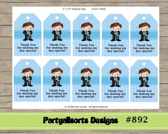 DIY - Communion Boys Thank You/ Gift Tags/Labels