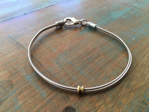 guitar string bracelet recycled bracelet music jewelry. Black Bedroom Furniture Sets. Home Design Ideas