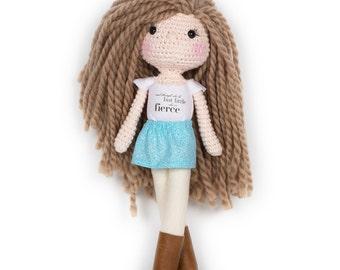 "Ready to Ship Mini ""She is Fierce"" Doll"