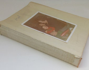 Vintage Spanish Tatty/Shabby Early 1970s Photo Album with Color and Black & White Family Photos