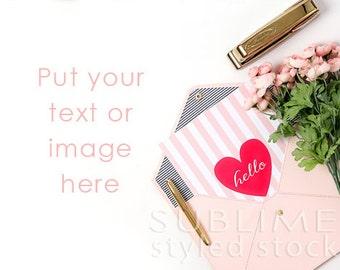 Styled Stock Photography / Styled Desktop  / Background Photo / Mock Up / Valentines / Social Media / JPEG Digital Image / StockStyle-627