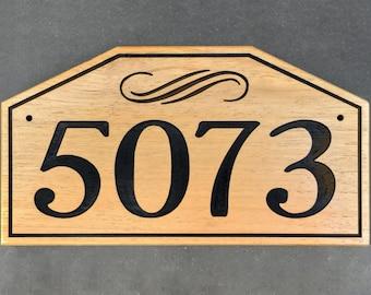 Graceful Address Plaque