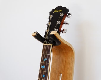 Guitar Stand - electric guitar - Oak