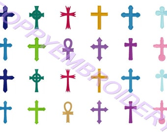 CROSS embroidery machine  designs  / croix pour broderie machine / INSTANT DOWNLOAD