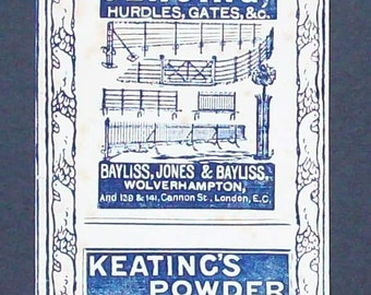 Wonderful early advertising bookmark