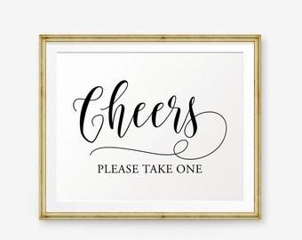 Cheers Sign, Wedding sign printable, Cheers Printable, Wedding Decor, Wedding Reception Sign, Wedding Cheers, Wedding Bar Sign