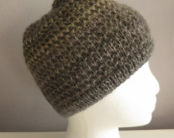 Green Ombre Knit Hat