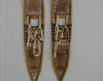 F. H. Co., Wallingford Vermont Antique Pickerel Snowshoes, 56x10, Great Condition!!!