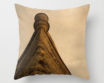 Indoor / Outdoor Decorative Throw Pillow Brown 16X16 IN.