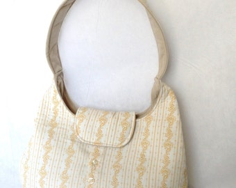 One-of-a-kind Upcycled purse made from a man's shirt and a pair of pants