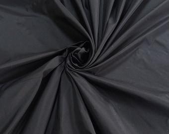 """Black silk Taffeta fabric yardage By the Yard 60"""" wide 100% silk"""