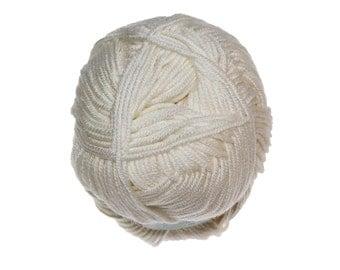 Debbie Bliss - Baby Cashmerino - #100 WHITE - Baby/Sport 50g / 125m - Wool & Blends