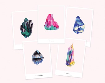 Pack of 5 cards / Minerals