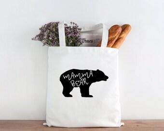 Mamma Bear Tote, Mamma bear, bear tote, tote bag, market bag, mothers gift, mothers day gift, mothers day