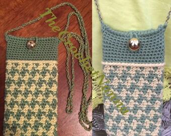 Crochet phone cover / phone case / phone holder / cell phone sleeve.