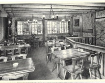 Hotel Restaurant Le Mazot, Lucerne, Switzerland, Interior Real Photo Unused 1960 Black and White Postcard