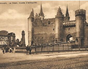 Anvers, Le Steen,  muse d' antiquites. Antwerp, Belgium, Circa 1915 Antique Unused Postcard