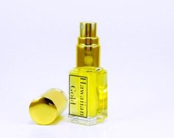 Hawaiian Gold- Vanilla Perfume, Sandalwood Perfume, Natural Cologne, Tropical Perfume, Hawaiian Perfume, Vanilla Cologne, Natural Plumeria