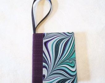 Bookament/Blue Marble Swirl/Book Ornament