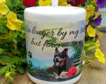 Remember Me Candle - dogs, cats, pets, memorial, bridge, flameless
