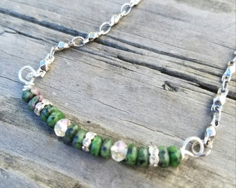 Petite Green Stone Necklace