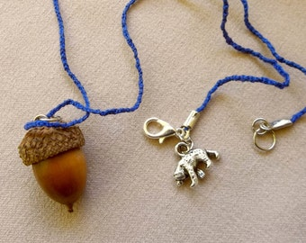 Real Acorn Necklace, Acorn Necklace, Acorn Pendant, Real Acorn, Bear  Charm, Acorn Jewelry, Natural Acorn Jewelry,, Dried Acorn Charm