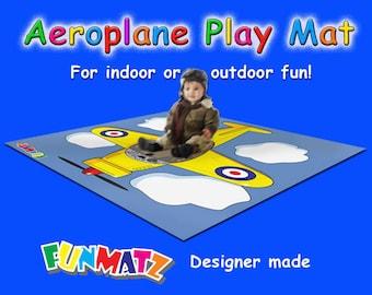 Funmatz Aeroplane Play Mat - for all budding little pilots!
