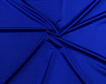 "Royal Blue Lycra Shiny Milliskin Nylon Spandex Fabric 4 Way Stretch 58"" wide Sold By The Yard"