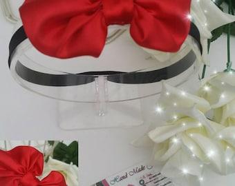 Valentines Red Satin Baby Headband