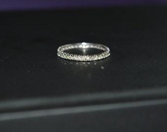 Full diamond eternity wedding ring