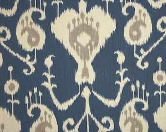 Magnolia Home Java Ikat Yacht Blue, Drapes and Valances,  (SOLD IN PAIRS)