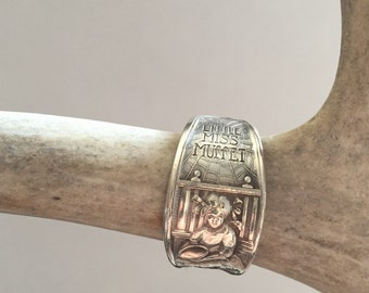 Antique Little Miss Muffet Spoon Ring