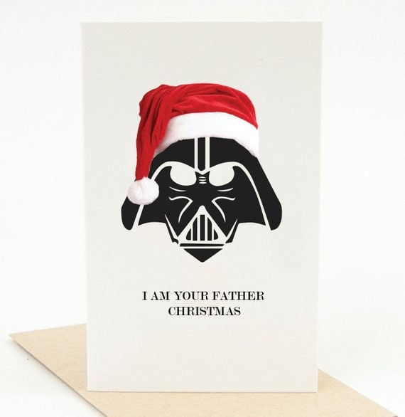 Printable Christmas Card With Envelope Template I Am Your Father Christmas  Card Funny Christmas Card Cute Christmas Card Pun Card Punny Card  Printable Christmas Card Templates