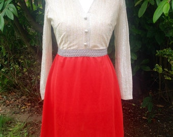 Original 1960's Mod Mini Dress - Size 14