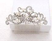 Bridal Comb - Wedding Hair Comb - Bridal Hair Pin - Bridal Hair Accessory - Rhinestone Comb - Bridal Hair Piece - Crystal Pearl Hair Comb