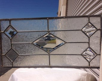 Beveled Leaded Glass Panel