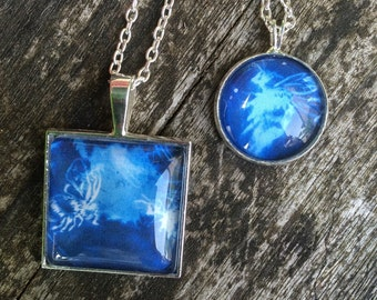 Blue Bee Cyanotype Pendant