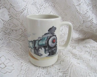 Vintage Pennsylvania Railroad Train Coffee Cup