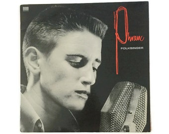 "Phranc, ""Folksinger"", vinyl record album, new wave LP, folk, 1980s, LGBTQ, punk, queercore, riot grrl"