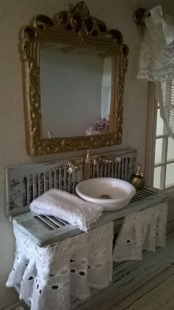 Miniatures Dollhouse Bathroom Furniture Bathroom Mobileda