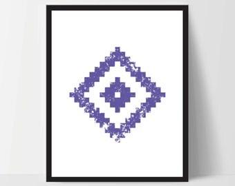 Geometric Wall Art, Purple, Artwork, Home Decor, Modern Contemporary, Print Art, Instant Download, Boho, Nursery, Baby, Digital Print