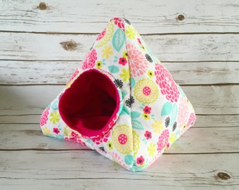 Hedgehog Bed | Guinea Pig Bed | Small Animal Bed | Hedgehog House | Guinea Pig House  | Rat Bed | Tent Floral Custom Pick from 200 Fabrics