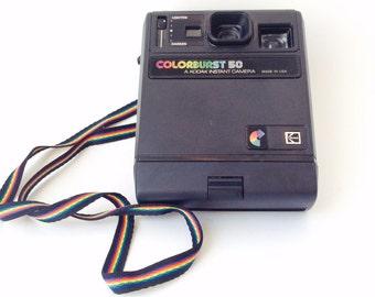 Vintage Kodak Colorburst 50 Camera Kodak Instant Color Burst Camera, Old Kodaks Photography Props Vtg. Kodak Cameras