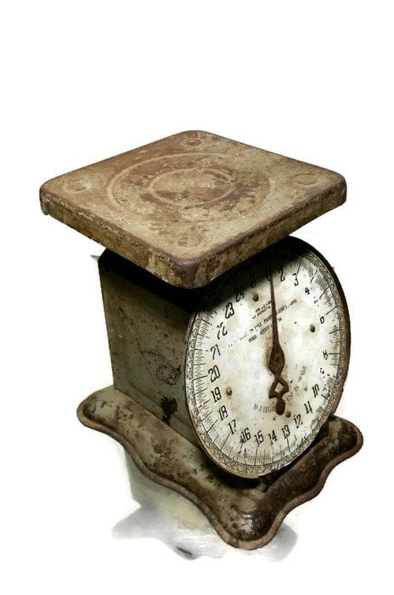 Vintage kitchen scale rustic farmhouse utility by for Rustic kitchen scale