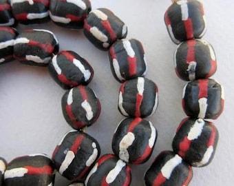 Glass Krobo Beads (13x12mm) [64390]