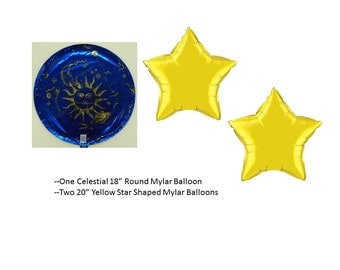 Celestial Sun & Moon Balloon Set