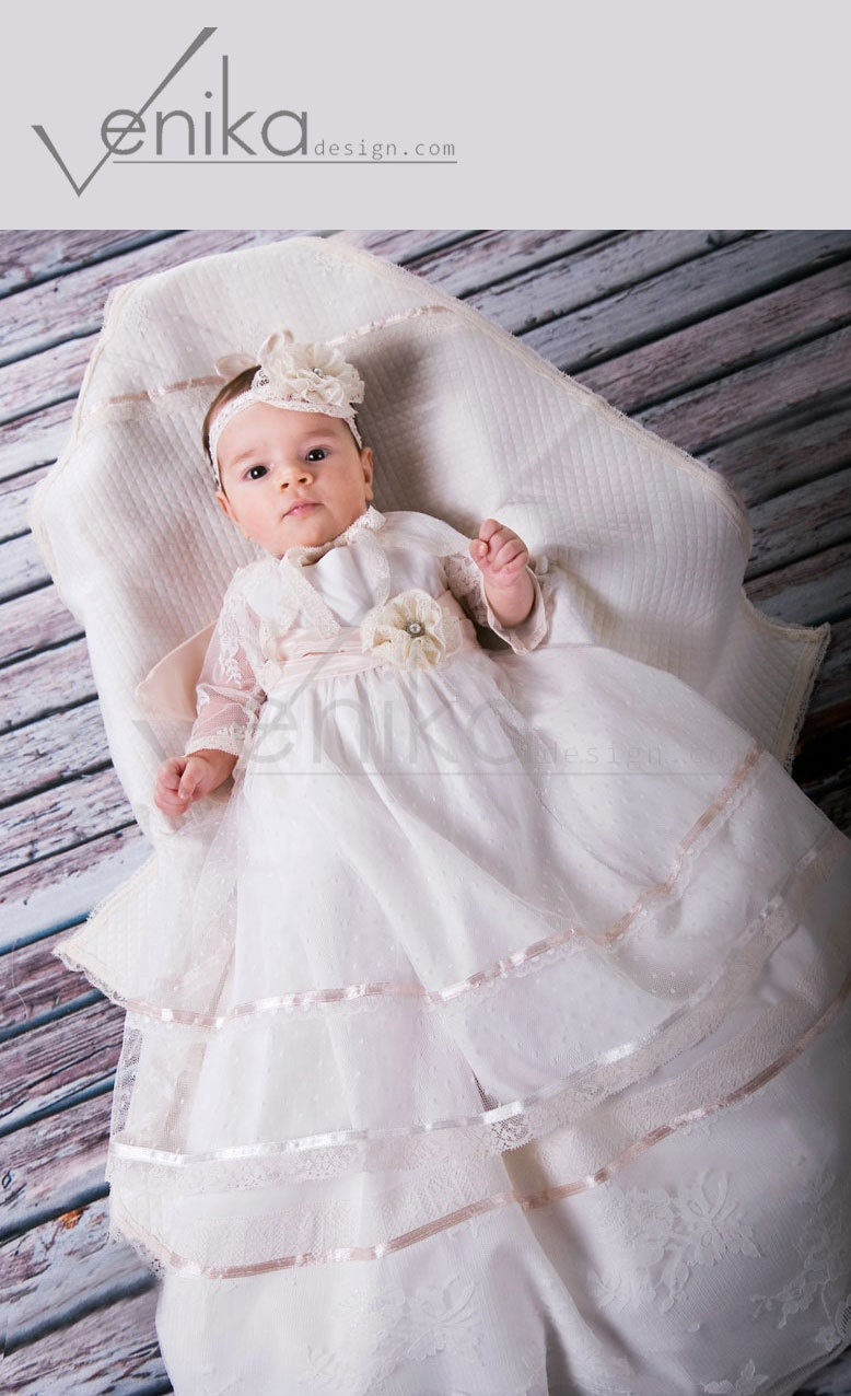 Baptism Dress Christening Gown Blessing Gown Christening