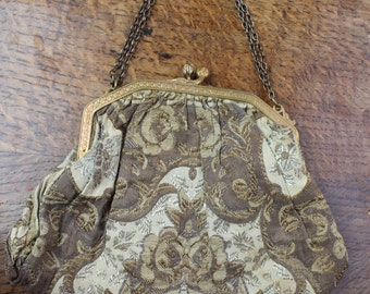 Gold tapestry clasp bag REF 283