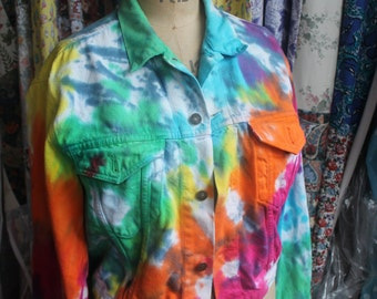 Rainbow dyed Levis jacket  ref 397