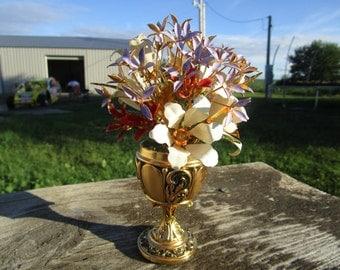 Faberge, Russian bouquet, 24 karat gold, Faberge Franklin Mint, Imperial Russian Bouquet, Faberge egg, enamel bouquet, Igor Carl Faberge